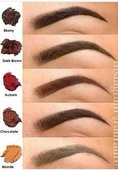 Base maquillage: Le maquillage des sourcils - Best of pins! Eyebrow Shading, Eyebrow Makeup, Makeup Dupes, Skin Makeup, Beauty Makeup, Eyebrow Tips, Eye Base, Basic Makeup, Makeup Ideas
