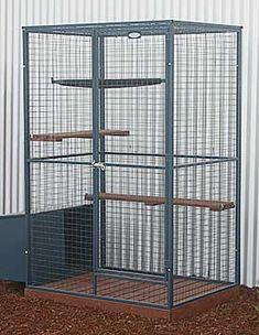 Cat Enclosures Pet Bird Cage, Bird Cages, Cat Cages Indoor, Parrot Play Stand, Diy Cat Enclosure, Bird Cage Design, Cat Scratcher, Cat Supplies, Cat Furniture