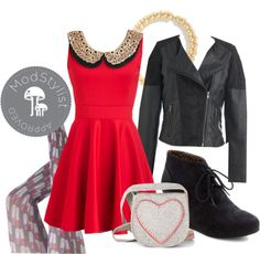 """Valentine's Look"" by modcloth ❤ liked on Polyvore"