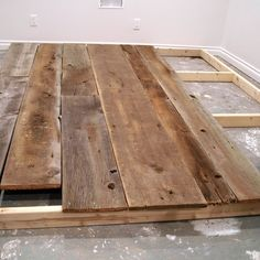 How to make a moveable wood wall.