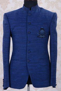 Jodhpuri Suit-Dark Blue-ST635