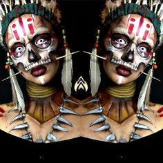 """Witch Doctor Makeup! """