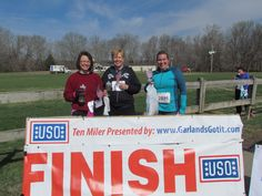 USO Volunteers, who ran in the race - 10 Miler Race in Ft. Campbell, KY.