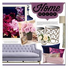 """Attractive"" by qrystal5to9 ❤ liked on Polyvore featuring interior, interiors, interior design, home, home decor, interior decorating, Waterford, Jamie Young, Privilege and Americanflat"