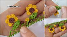 Crochet Borders, Crochet Patterns, Easy Crochet, Crochet Projects, Diy And Crafts, Crochet Earrings, Flowers, Honey, Sewing Needles