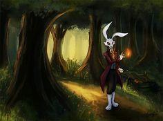 The night of the rabbit Rabbit, Princess Zelda, Night, Anime, Painting, Fictional Characters, Art, Bunny, Art Background