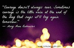 Julie Jarnagin: Courage
