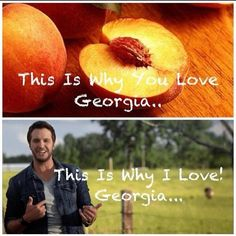 I love Georgia peaches but love Luke Bryan Country Lyrics, Country Music Stars, Country Artists, Country Singers, Country Men, Country Girls, Luke Bryan Funny, Cole Swindell, Shake It For Me