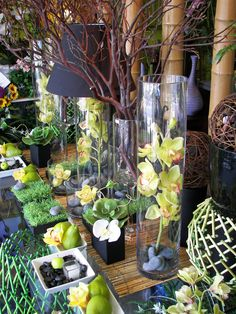 Summer Window Display, Apple Blossoms Floral Designs, Tampa, Florida