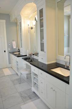 master bath vanity -- stacking shelves