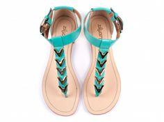 ZILIAN :: Loja Online | sapatos :: SPRING - SUMMER 14 :: Sandálias em pele esmeralda