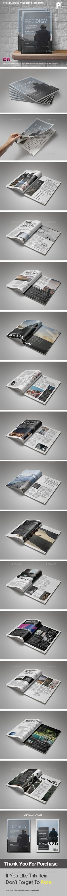Multipurpose Magazine Template InDesign INDD. Download here: https://graphicriver.net/item/multipurpose-magazine-vol4/17416439?ref=ksioks