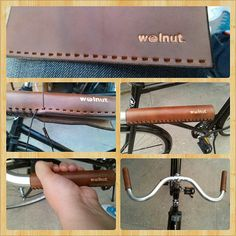 """Walnut Studiolo Bicycle Accessories Bicycle Leather Handlebar Grips - The """"City Grips"""" city City Grips Sew-on Leather Grips Kayak Accessories, Bicycle Accessories, Mountain Bike Handlebars, Mountain Biking, Leather Bicycle, Retro Bike, Cafe Racer Build, Bicycle Maintenance, Tandem"""