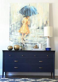 Coastal Blue Mid Century Dresser | General Finishes Design Center