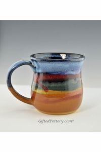 Handmade Pottery Large Desert Blue Mugs 12-14 ozs - GOT IT!!!  ♥♥♥