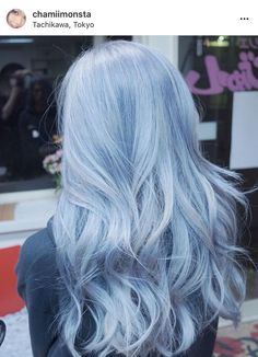 Blue Flame Inspiration Hair Styles With Color In 2019 Colored - pastel blue hair. Icy Blue Hair, Pastel Blue Hair, Hair Dye Colors, Ombre Hair Color, Cool Hair Color, Silver Blue Hair, Light Blue Hair Dye, Blue Hair Balayage, Pastel Hair Colors