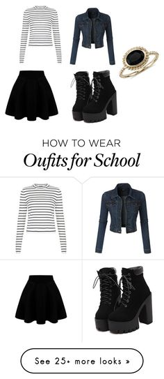 """school"" by avalei on Polyvore featuring LE3NO, Blue Nile, women's clothing, women, female, woman, misses and juniors"
