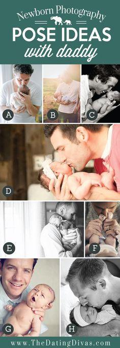 Precious Newborn Photography Pose Ideas with Daddy