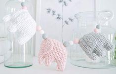 virkattunorsuvaunulelu Knitting For Kids, Baby Knitting Patterns, Knitting Projects, Crochet Elephant, Handmade Home, Diy Crochet, Kids And Parenting, Baby Love, Needle Felting