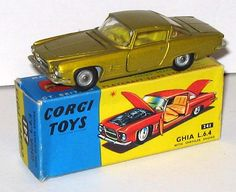 Corgi Toys No,241 Ghia L6.4. I had this in metallic blue. Was a good model. Everything (bonnet, doors and boot) opened and had a Corgi dog on the parcel shelf