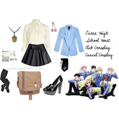 """Ouran High School Host Club Crosplay Casual Cosplay"" by cupcake-curiosities on Polyvore"