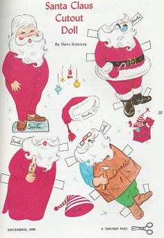 from The Golden Magazine December 1966 Christmas Paper Doll 1 of 2