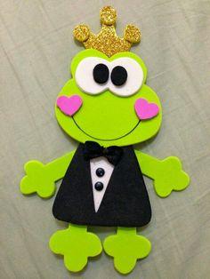 Kids Crafts, Foam Crafts, Diy And Crafts, Arts And Crafts, Paper Crafts, Alphabet Letter Crafts, Frog Theme, Pot A Crayon, Felt Baby