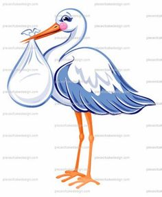 8 ~ Baby Shower Stork Delivery Birthday ~ Edible Image Cake/Cupcake Topper!!! * Review more details @ : baking decorations