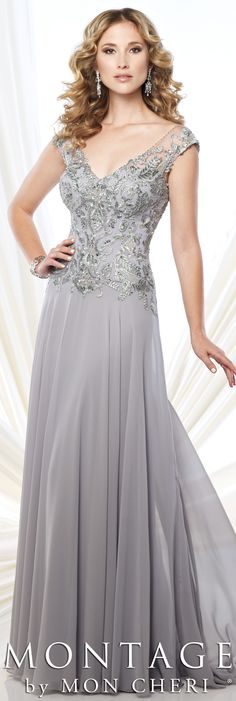 Montage by Mon Cheri Fall 2015 - Style No. 215914 #motherofthebridedress