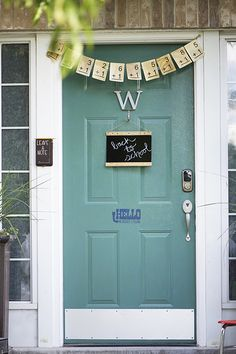 Back to school front porch decor