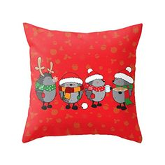 Sankuwen Home Decoration Christmas Sofa Pillow Cover (Hed…