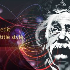 An educational background design with image of Albert Einstein for PowerPoint presentations