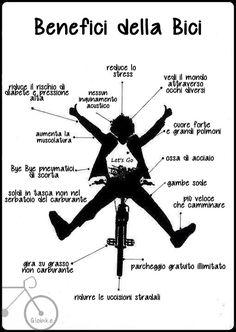 benefici della bici #padala #pedaladipiu