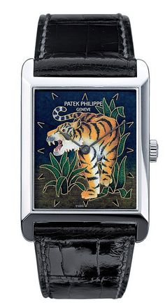 Patek Philippe Enamel Roaring Tiger Platinum
