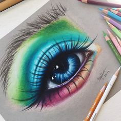 Pin by julie hanney on arts in 2019 draw, art drawings, pencil art. Amazing Drawings, Cute Drawings, Pencil Drawings, Amazing Art, Drawing Eyes, Painting & Drawing, Color Pencil Art, Eye Art, Art Inspo