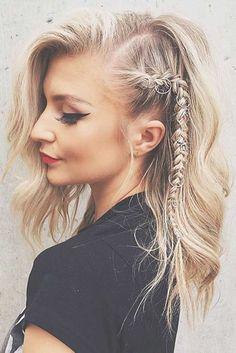 Awesome 37 Easy Hairstyles for Medium Length Hair Style http://outfitmad.com/2018/02/24/37-easy-hairstyles-medium-length-hair-style/