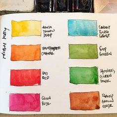 These are most of my favourite high key colours found in my palette. They are high key and vibrant like spices so are often used sparingly. I must stress that this is in comparison to the white of the paper. Colour perception shifts when the background and surrounding ambient lighting changes. Tested on Moleskine watercolour sketchbook. #watercolor #watercolorist #danielsmithpaint #danielsmithwatercolors