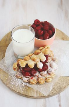 peanut butter & jam bubble waffles.