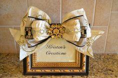 Elegant Black And Gold Rhinestone Frame. $30.00, via Etsy.