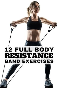 12 Full Body Workout with Resistance Bands - Resistance band exercises offer a great all-in-one workout for glutes, for arms, for legs, for abs, for b Ab Workout At Home, At Home Workouts, Workout Men, Workout Fitness, At Home Gym, Resistance Band Ab Workout, Exercises With Resistance Bands, Stretch Band Exercises, Exercises With Bands