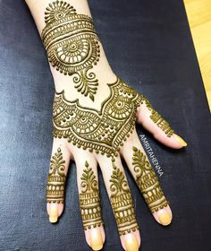 Semi-traditional intricate art for Jessica ❤️ Dulhan Mehndi Designs, Full Mehndi Designs, Mehndi Designs Finger, Henna Hand Designs, Mehndi Designs For Girls, Mehndi Designs For Beginners, Mehndi Design Pictures, Wedding Mehndi Designs, Mehndi Designs For Fingers
