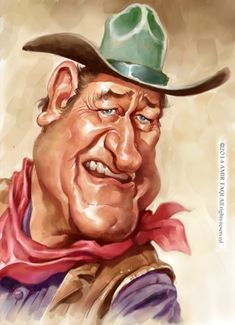 Cartoon: John Wayne (medium) by Amir Taqi tagged john,wayne