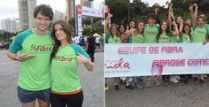 Atores de 'Carrossel' prestigiam Maratona Internacional de São Paulo - Adriana Del Claro e Daniel Satti, da novela Carrossel, exibida pelo SBT marcaram presença na equipe Fibra na Meia Maratona Internacional de São Paulo