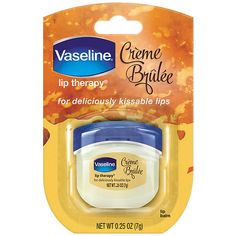 Vaseline lip therapy creme brulee locks in moisture for beautiful, healthy - looking lips. With a decendent vanilla scent creme brulee will leave you with deliciously, kissable lips. Vaseline Jelly, Vaseline Lip, Vaseline Beauty Tips, Rosy Lips, Kissable Lips, Chapped Lips, Neutrogena, Maybelline, Haut Routine