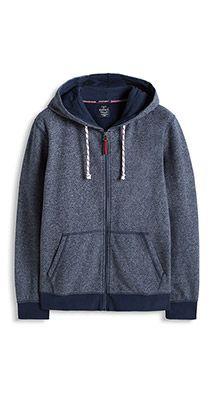 Esprit / Cotton blend hood in melange sweat fabric