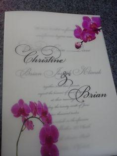 Flat Layered 7x5 White and Vellum Wedding Invitation by ECRDesigns, $5.00