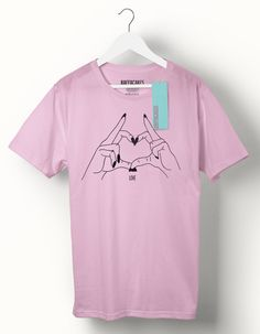 HEART HANDS - T-shirt  100% Cotton, screen printed t-shirt.  Our Tees are a unisex relaxed/loose fit, perfect for a relaxed style. Small: 6 – 8 Medium: 10 – 12 Large: 14 – 16  All items made to order with 2 - 4 days turnaround time.  All items are sent via My Hermes with a secure tracking number.   ♥ For other Items in my shop: https://www.etsy.com/uk/shop/raffacakesprintables?ref=hdr_shop_menu  ♥ How to buy on Etsy: http://www.etsy.com/help&...