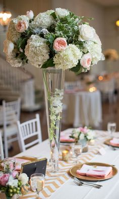 Photographer: Stephanie Fay Photography; Wedding reception centerpiece idea