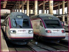 Trenes de la serie 104 en Madrid Atocha