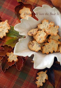 Cranberry Pecan Pie Crust Leaves by Home Is Where The Boat Is